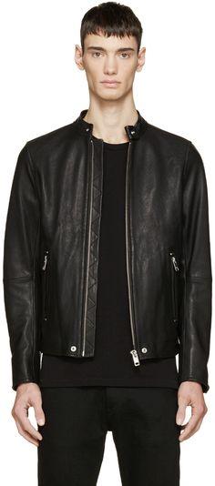 Diesel - Black Leather L-Roshi Jacket