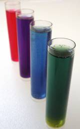 Red cabbage juice can be used to test the pH of common household chemicals.