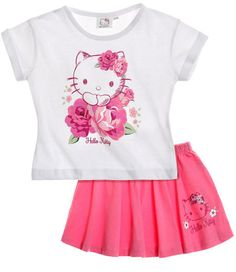 Hello Kitty T-shirt and skirt fuchsia