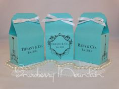 Tiffany & Co. Inspired Baby GIRL Shower Favor by SnowberryMountain, $37.50