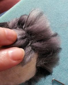 How to needle felt long animal fur by:-Fittobeloved