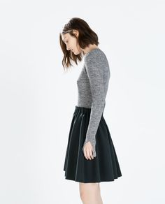 SHORT SKIRT WITH ELASTICATED WAIST from Zara - petrol blue