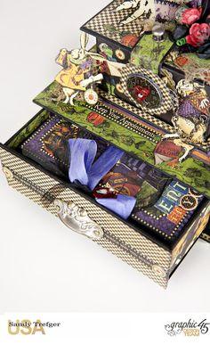 Curiouser Curiouser Trinket Box, Halloween in Wonderland, Tutorial by Sandy…