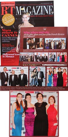 Being featured in the Who, where and why of the French Riviera & Monaco's glitz, glam and fun section of the Riviera Times Magazine in June 2015. I'm the lady in red :-)