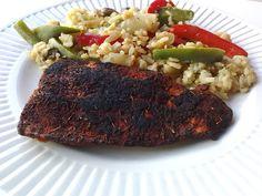 Blackened Salmon and Rainbow Rice
