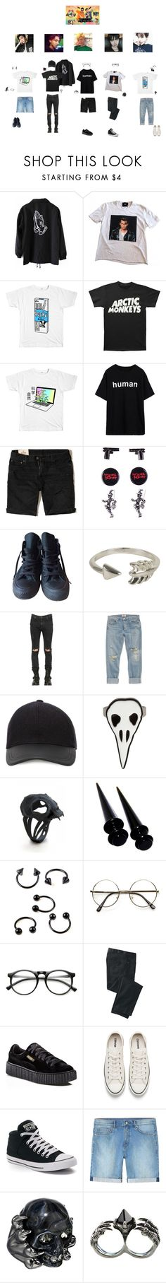"""""""The boy's on Weekly idol"""" by flow-mosterz ❤ liked on Polyvore featuring D&G, Hollister Co., Hot Topic, Converse, Olia, RtA, AGOLDE, Canali, ZeroUV and INDIE HAIR"""