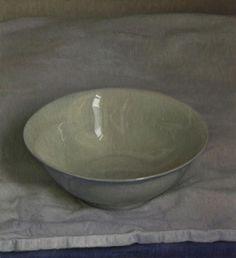 Jaap Roose, Schaaltje in zacht licht- 2015- Olieverf op paneel- 25 x 23 cm