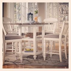 Ashley Furniture Whitesburg Collection. #furniturecart #ashleyfurniture #furniture #diningset #diningroom #decor #design #countrystyle #counterheight #table #chair  #dinette