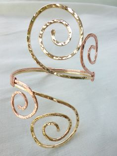 Grecian Double Swirl Upper Arm Cuff  by beadifulexpressions, $47.00