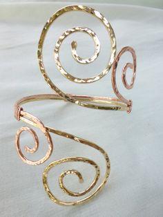 Grecian Double Swirl Upper Arm Cuff  by beadifulexpressions, $47.00