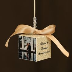 diy photo block ornament -