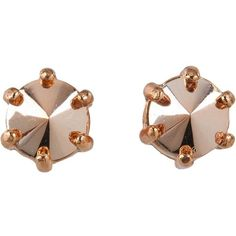 Marc by Marc Jacobs Claude Inverted Facet Studs (470 MAD) ❤ liked on Polyvore featuring jewelry, earrings, accessories, joias, women, marc by marc jacobs, earrings jewelry, facet jewelry, marc by marc jacobs earrings and stud earrings