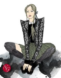 Quiet romantism  http://www.nefergarden.com/2013/01/20/quiet-romantism/ #romantism #leopard #fashion #illustration