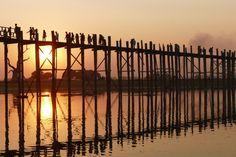 Amarapura, Sunset U-Bein-Bridge