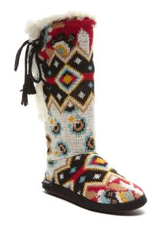 Forever Boho Side Vent Lace-Up Boot by MUK LUKS on @HauteLook