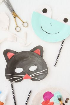 DIY Paper Plate Animal Masks for Halloween