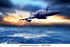 Military Airplan On The Speed Stock Photo 38447980 : Shutterstock