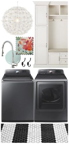 What Would Jen Do: The Land of Mud & Laundry - Such a great makeover idea for a mud room and laundry room. The colors and light fixture are super fun! Laundry Room Layouts, Laundry Room Shelves, Laundry Room Design, Laundry Rooms, Laundry Tips, Mud Rooms, Home Organization Hacks, Laundry Room Organization, Organization Ideas