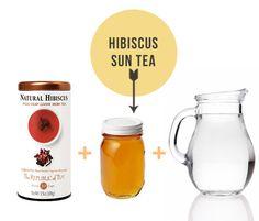 Hibiscus Sun Tea Recipe - Beth Mathews Design