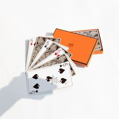 Authentic Second Hand Hermès Les 4 Mondes Jumbo Playing Card Set Free international shipping, money-back guarantee and award-winning service from THE FIFTH COLLECTION. Set Card Game, Card Games, Playing Cards, Notes, Gifts, Design, Deco, Report Cards, Presents