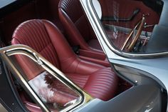 Ferrari 275 GTB 4. red black and grey interior burgundy