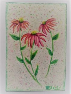 Watercolor Coneflower Card Watercolor by LisasPaintedCrafts