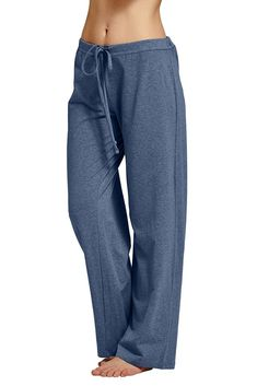 CYZ Women's Basic Stretch Cotton Knit Pajama Sleep Lounge Pan-DarkBlueMelange-L - Products Lists of Tools and Hardware Lounge Pants, Lounge Wear, Pajama Bottoms, Pajama Pants, All Fashion, Womens Fashion, Knit Pants, Pajamas Women, Look Chic