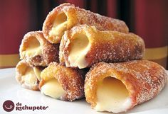 Spanish Desserts, Spanish Dishes, Mexican Dishes, Mexican Food Recipes, Dessert Recipes, Sweet Desserts, Sweet Recipes, Delicious Desserts, Yummy Food