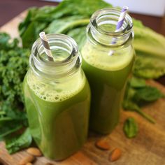 Easy Green Milk! A combination of green juice and almond milk, this easy drink is a delicious way to drink your greens!