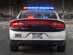 Because Dodge updated the styling of its 2015 Charger sedan, that means its cop car sibling will also benef. Police Car Lights, Police Cars, Police Vehicles, 2018 Dodge Charger, California Highway Patrol, Hot Blue, Emergency Vehicles, Car And Driver, Law Enforcement