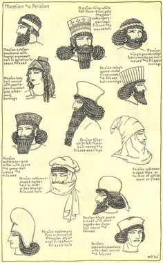 Median & Persian Hats & Hair. Mystery of History Volume 1, Lessons 59, 67 #MOHI59 #MOHI67