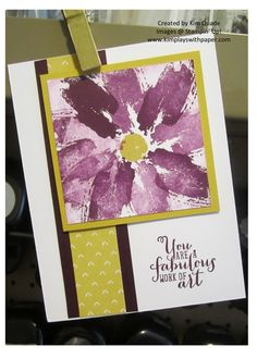 Blackberry Bliss and Hello Honey! I added a small strip of Designer Series Paper from the Moonlight Paper Stack.Picture