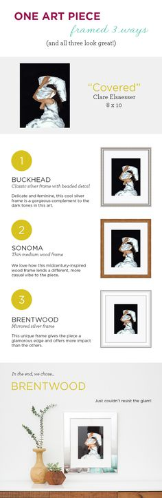 "Had a great time choosing the perfect frame for Clare Elsaesser's ""Covered"" print. Check out our favorite framing options and the final product! #etsy #framebridge https://www.etsy.com/listing/168873765/covered-giclee-art-print-available-in"