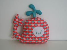 Etsy - Shop for handmade, vintage, custom, and unique gifts for everyone Fish Pillow, Cute Sewing Projects, Fabric Animals, Baby Couture, Fabric Toys, Sewing Dolls, Baby Pillows, Animal Pillows, Diy Toys