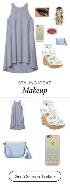 """Untitled #119"" by rnelson-17 on Polyvore featuring Theory, GUESS, Casetify, Smashbox and Kate Spade"