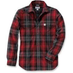 du S au XXL, existe également en Vert Une chemise ou surchemise  en coton flanelle coupe ajustée
