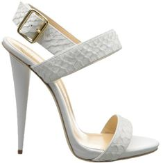Giuseppe Zanotti White Snake-Embossed Leather Sandal - Buy Online - Designer Sandals