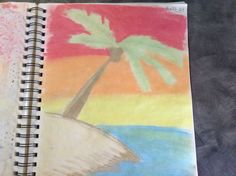 Tropical sunset.  Chalk. Different Media, Create Image, Tropical, Sunset, Projects, Art, Craft Art, Kunst, Sunsets