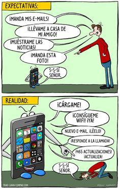 Móviles - Expectativas vs Realidad. Nosotros no controlamos al móvil; el móvil nos controla a nosotros