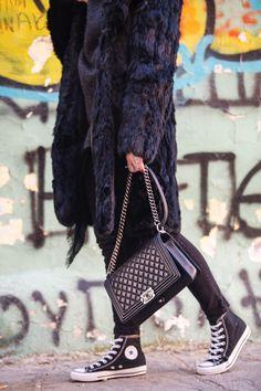 e24f76bf76c Chanel Boy Bag   All-Star Converse Sneakers by Stella Asteria