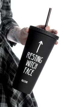Resting Witch Face Cold Brew Cup [B] Halloween Themes, Halloween Decorations, Halloween Halloween, Witch Face, Cricut Creations, Halloween Wallpaper, Cold Brew, Cool Gifts, Diy Gifts