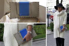Клатч, или клач (англ. clutch — схватить) — маленькая элегантная сумочка-конверт. У клатча может быть маленькая ручка, не ремешок, но обычно его носят под мышкой или обхватив ладонью. Холодный серый с акцентом синего дополнят Ваши образы :) Натуральная кожа Длина - 30,5 см Высота - 17,5 см #KANSA #kansa_bags_dresses #fashion #coats #madeinukrainian #Украина #сделаносвоимируками #работаотдуши #клатч #купитьклатч #зробленовУкраїні #happy #clutch