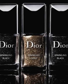 Dior Sparkling Gold Black Powder Promo Dior Nail Sparkling Powders Holiday 2013