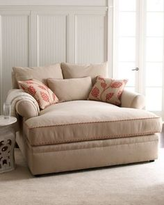 would love love love to own this one day in dark, chestnut brown...would probably be my fave piece of furniture...i could curl up with hot chocolate and a good book...definitely on my dream home list