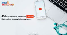 45% of marketers plan to add YouTube to their content strategy in the next year. #marketers #contentstrategy #youtube #thenext #year #plan #digitalmarketingtrends #digitalmarketing #contenttips