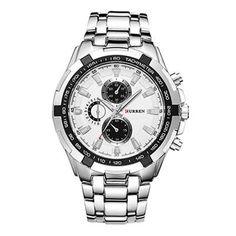 e6d648356bf CURREN 8023 Fashion large dial leisure business watches Men quartz watch  waterproof watch - Black+ · VendaRelógios De Luxo Para HomensRelógios ...