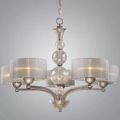 Westmore Lighting D'orsay Antique Silver Modern/Contemporary Chandelier at Lowe's. With a bold, metropolitan style, the D'Orsay Collection exudes glamour and sophistication. Blown crackled glass spheres are highlighted by a soft light Silver Chandelier, 3 Light Chandelier, Chandelier Shades, Kitchen Chandelier, Kitchen Pendants, Elk Lighting, Dining Room Lighting, Kitchen Lighting, Lighting Ideas