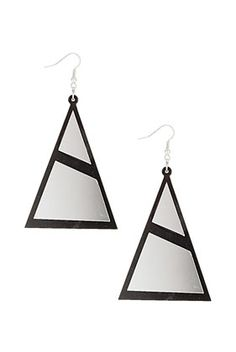 LARGE ACRYLIC TRIANGLE EARRINGS  Price: $20.00  Color: MULTI  Item code: 61U03DMUL