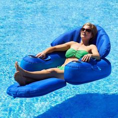 Pool Floating Lounge Chairs Www Office 35 Best Spring Float Images Lifebuoy Floats Toys Blue Wave Leisure Cloud Fabric Covered Lounger Ebay Chairspool
