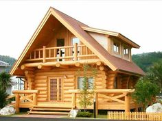 WOOD House Design Interior and Exterior Creative Ideas Cabin Plans With Loft, Log Cabin Plans, Log Cabin Homes, Small Log Homes, Small Log Cabin, Wood House Design, Log Home Designs, Cabins And Cottages, Design Case